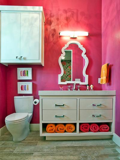 时尚混搭风格创意卫生间浴室柜装修效果图