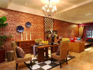 70平米东南亚风格两室一厅足彩导航效果图赏析