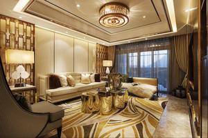 160平米新古典主义风格大户型室内装修效果图赏析
