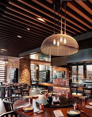 130平米中式风格茶楼设计装修效果图