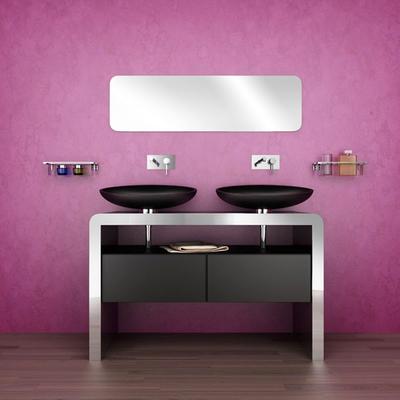 现代风格时尚创意卫生间洗脸盆装修效果图大全