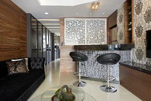 现代风格精致室内客厅吧台设计装修效果图