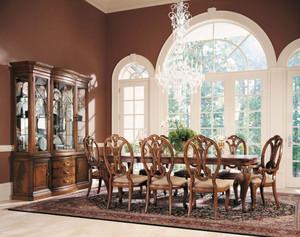 经典美式风格别墅室内餐厅设计装修效果图
