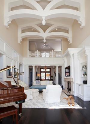现代美式风格别墅室内家装吊顶设计装修效果图