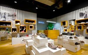 72平米现代简约风格鞋店设计装修效果图赏析