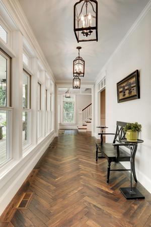 现代美式风格别墅室内过道装修效果图赏析
