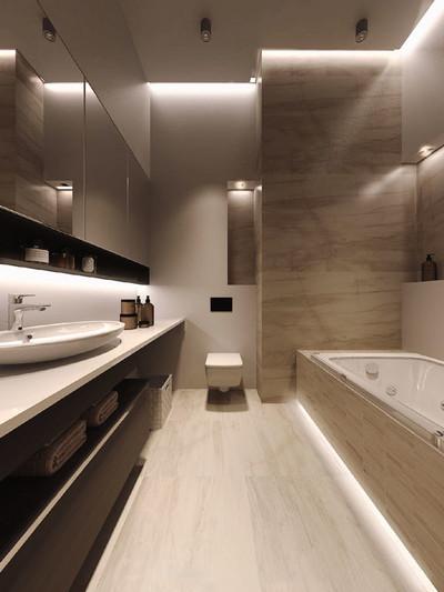 10平米现代风格大卫生间装修效果图