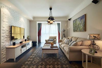 簡歐風格簡約客廳電視背景墻裝修效果圖賞析