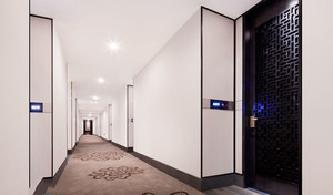 300平米現代風格酒店過道設計裝修效果圖