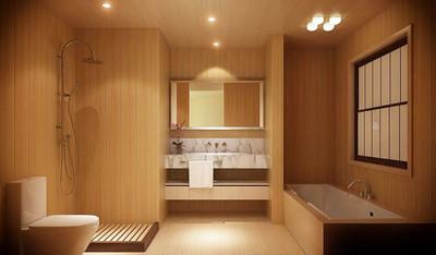 日式风格简约宾馆卫生间装修效果图赏析