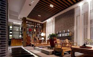50平米中式风格茶楼设计装修效果图