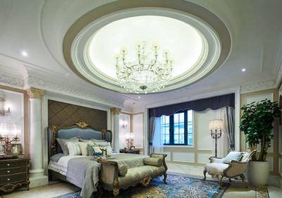 歐式風格豪華精致別墅臥室吊頂設計裝修效果圖