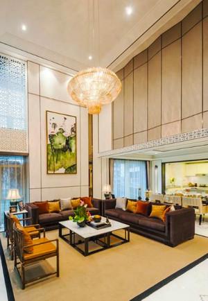 新古典主义风格别墅中空客厅吊顶设计装修效果图