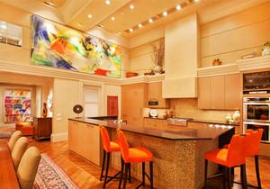時尚混搭風格別墅室內餐廳吧臺設計裝修效果圖