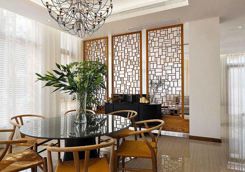 中式风格简约餐厅隔断设计足彩导航效果图赏析