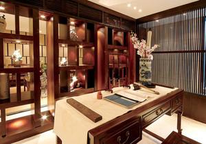 中式風格古典書房博古架裝修效果圖賞析