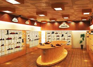74平米现代风格精品鞋店装修效果图赏析