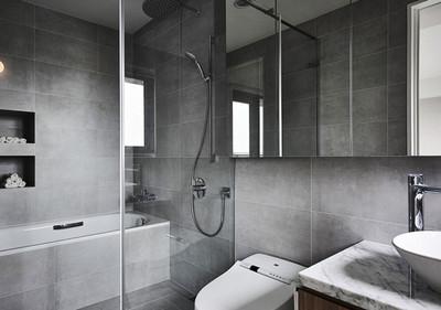 现代简约风格灰色系卫生间装修效果图鉴赏