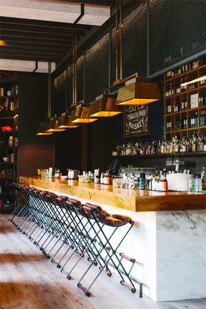 乡村风格文艺酒吧吧台设计装修效果图