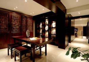 中式風格開放式書房博古架裝修效果圖