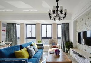 混搭風格精致兩室兩廳室內裝修效果圖案例