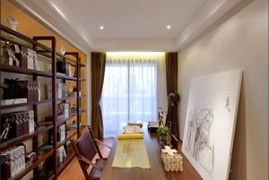 中式風格古典精致書房博古架裝修效果圖