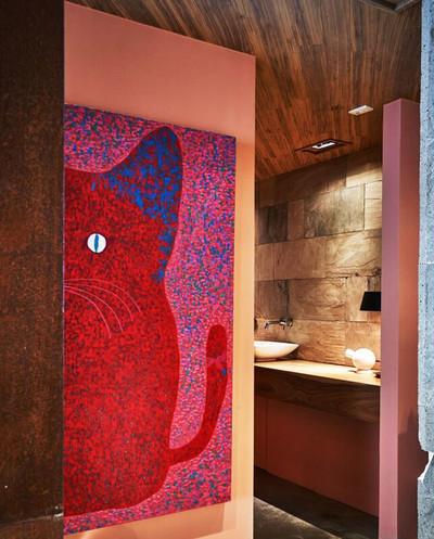 后现代风格创意卫生间装修效果图