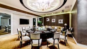 中式风格精致酒店餐厅包厢设计装修效果图