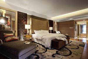 中式風格五星級酒店客房裝修效果圖