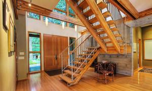 美式风格精致精致别墅楼梯设计装修效果图