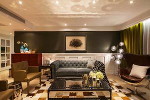 210平米美式风格精美复式楼室内装修效果图赏析