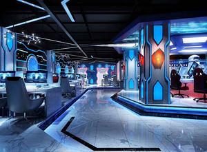 140平米现代风格网吧装修效果图