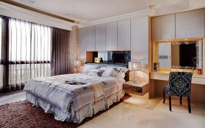 簡歐風格溫馨臥室背景墻裝修效果圖賞析