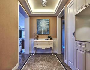 歐式風格大戶型精美玄關柜設計效果圖