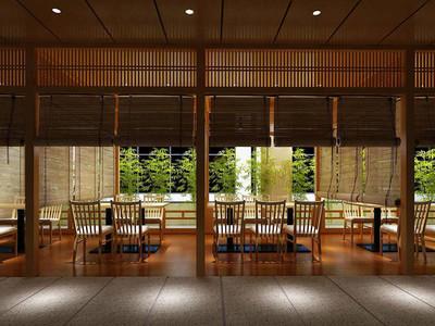 日式风格精致餐厅设计装修效果图