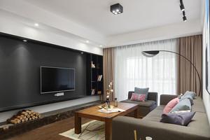 现代风格个性精致客厅电视背景墙足彩导航效果图