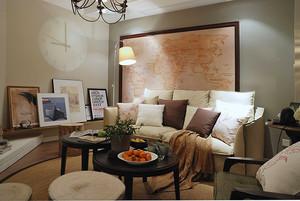 80平米混搭風格精致室內裝修效果圖案例