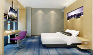现代风格宾馆客房设计装修效果图