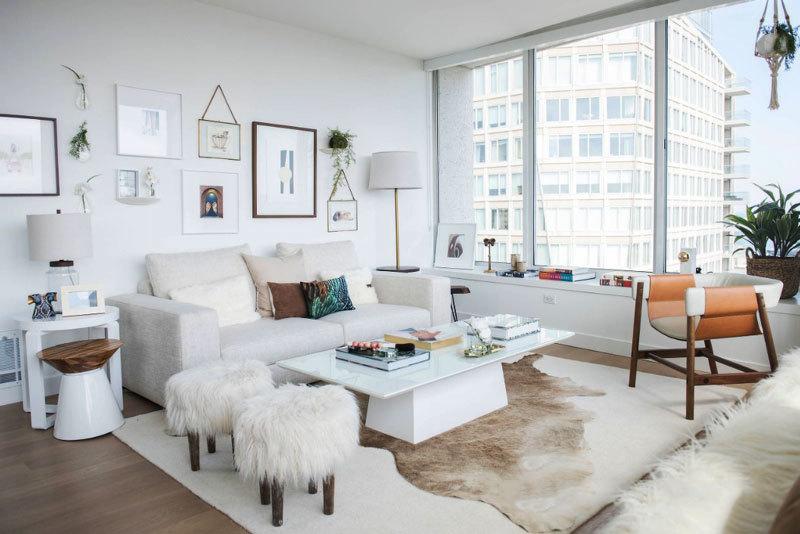 北欧风格大户型清新精美客厅装修效果图