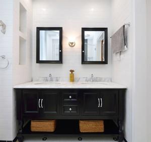 北欧风格简约卫生间浴室柜设计足彩导航效果图