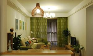 自然轻松宜家风格两室两厅室内装修图
