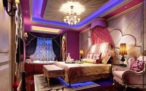 歐式風格奢華精美酒店客房裝修圖