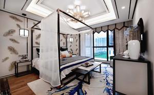 卧室 中式 局部其他 三居室装修