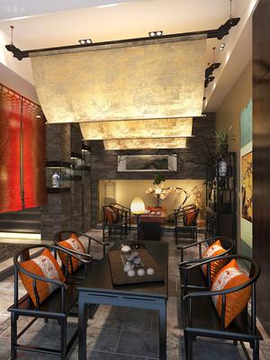 禅意中式风格精致茶楼设计装修图
