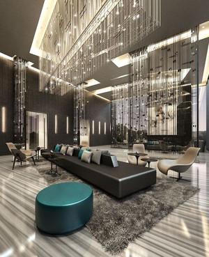 歐式風格奢華精美酒店大堂設計裝修圖