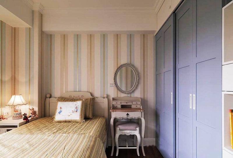 簡歐風格溫馨臥室衣柜設計裝修效果圖