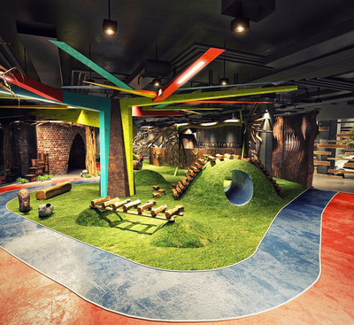 現代風格休閑兒童樂園設計裝修效果圖