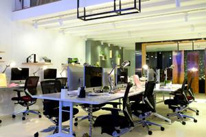 90平米現代辦公室裝修設計圖