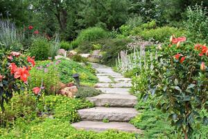 法式别墅花园小径装修效果图