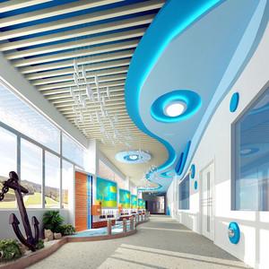 学校走廊吊顶装修效果图